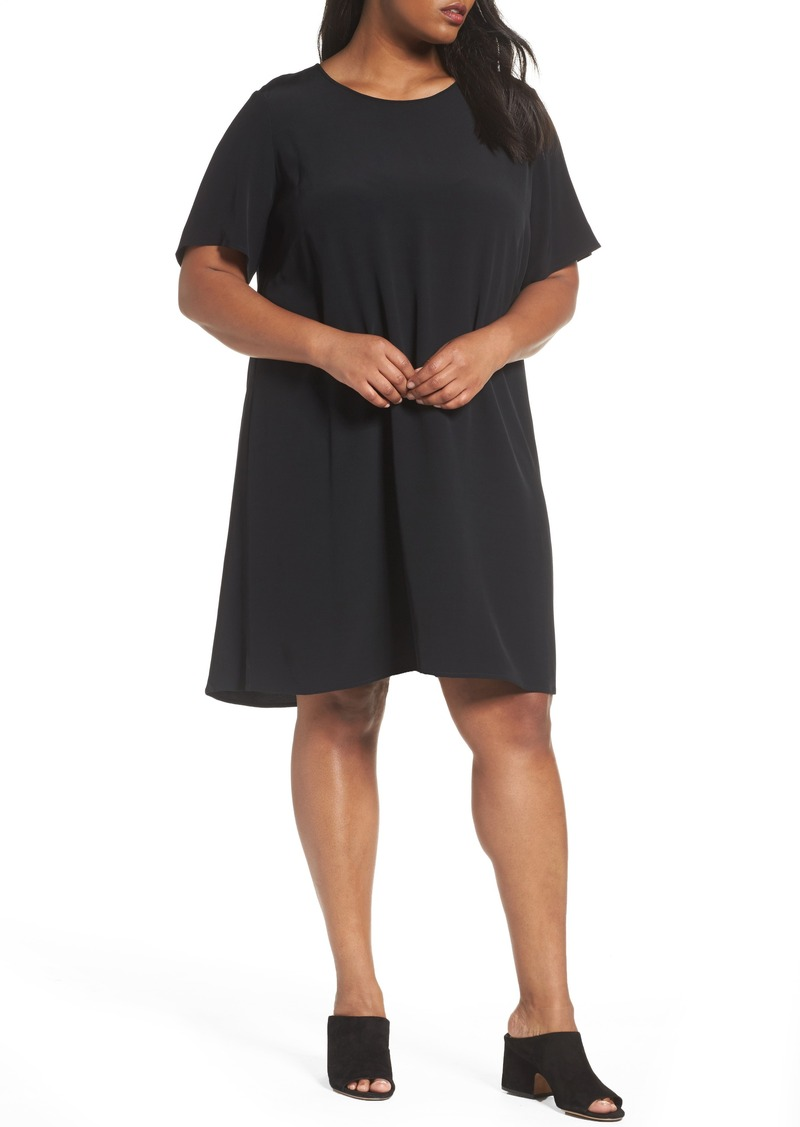 b9565d8df32 Eileen Fisher Eileen Fisher Tencel® Blend Jersey Shift Dress (Plus ...