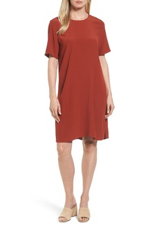 Eileen Fisher Tencel® Lyocell Blend Jersey Shift Dress (Regular & Petite)