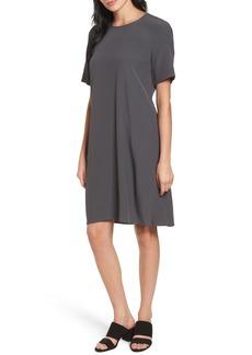 Eileen Fisher Tencel® Blend Jersey Shift Dress (Regular & Petite)