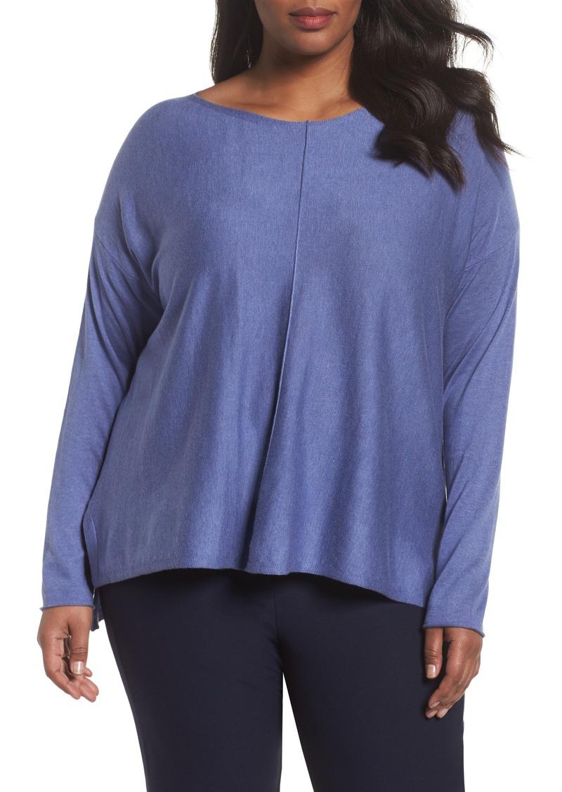 28f3e23d4a0 Eileen Fisher Eileen Fisher Tencel® Lyocell Blend Sweater (Plus Size ...