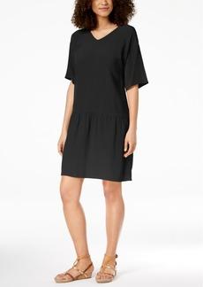 Eileen Fisher Tencel Crepe Drop-Waist Dress