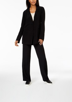 Eileen Fisher Tencel Crepe Notch-Collar Jacket