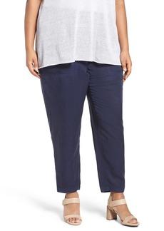 Eileen Fisher Tencel® Lyocell & Linen Ankle Pants (Plus Size)