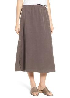 Eileen Fisher Tencel® Lyocell & Linen Midi Skirt (Regular & Petite)
