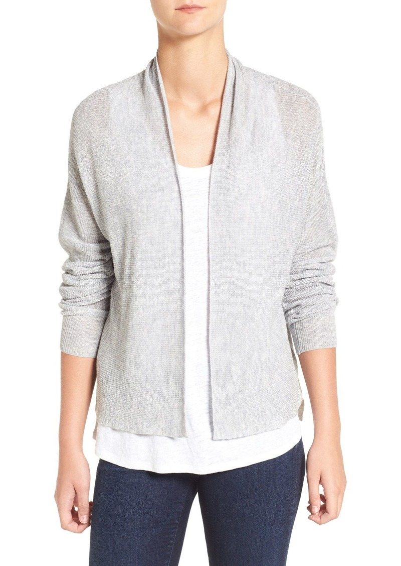 Eileen Fisher Tencel® Lyocell & Wool Blend Boxy Cardigan