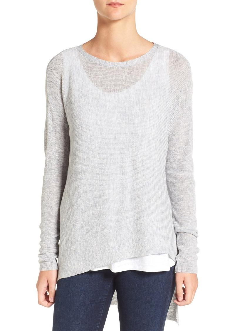 Eileen Fisher Tencel® Lyocell & Wool Blend Drape Top