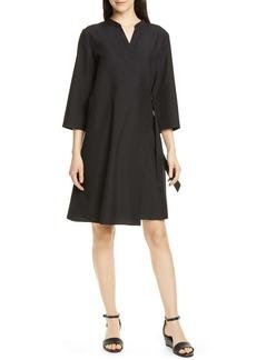 Eileen Fisher Tencel® Lyocell Blend Wrap Dress