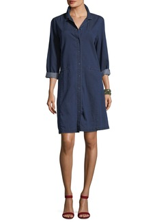 Eileen Fisher Tencel® Organic Cotton Denim Collared Dress