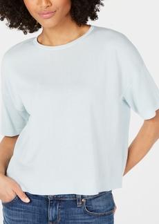 Eileen Fisher Tencel Round-Neck Short-Sleeve Top, Regular & Petite