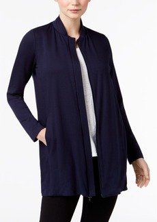 Eileen Fisher Tencel Stretch Jersey Long Bomber Jacket