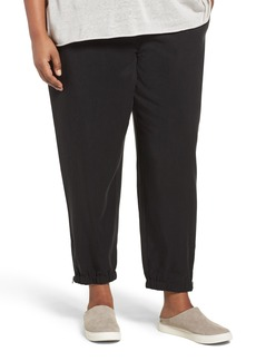 Eileen Fisher Tencel® Twill Tapered Ankle Pants (Plus Size)