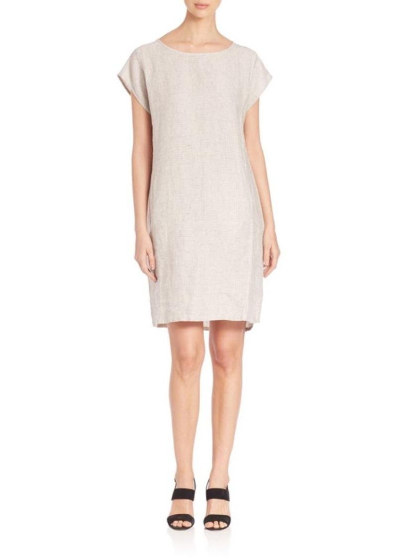 Eileen Fisher Terry Slubby Organic Linen Dress