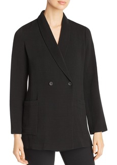 Eileen Fisher Textured Double-Breasted Blazer