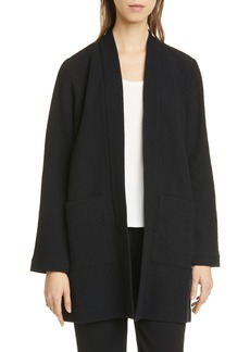 Eileen Fisher Textured Open Front Long Jacket (Regular & Petite)