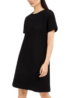 Eileen Fisher Textured Round-Neck Dress