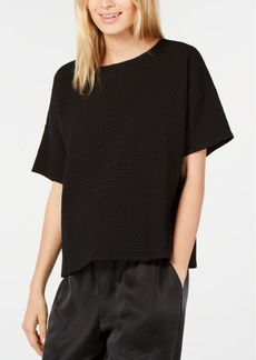 Eileen Fisher Textured Scoop-Neck T-Shirt