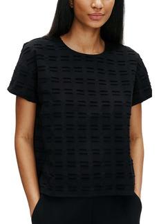 Eileen Fisher Textured Short Sleeve Organic Cotton Top