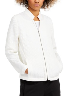 Eileen Fisher Textured Stand-Collar Zip Jacket