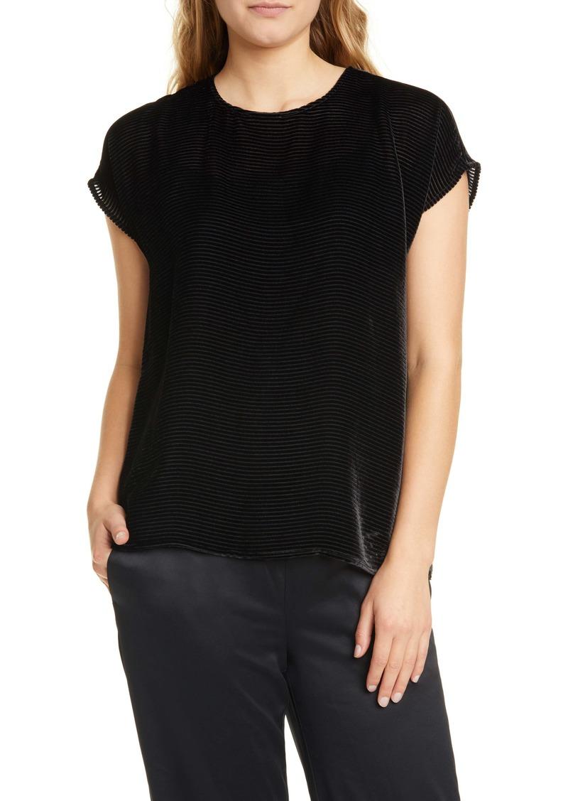 Eileen Fisher Textured Velvet Top