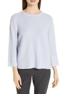 Eileen Fisher Three Quarter Sleeve Sweater (Regular & Petite)