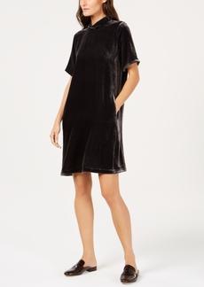 Eileen Fisher Velvet Tie-Back Dress, Regular & Petite