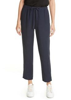 Eileen Fisher Tie Waist Ankle Pants (Regular & Petite)