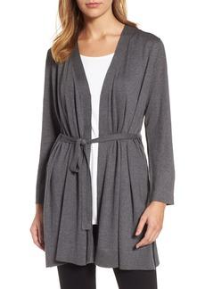 Eileen Fisher Tie Waist Tencel® Lyocell Blend Cardigan (Regular & Petite)