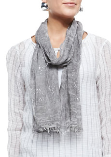 Eileen Fisher Tinted Encrusted Sparkle Scarf