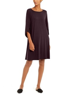 Eileen Fisher Tulip-Sleeve Shift Dress