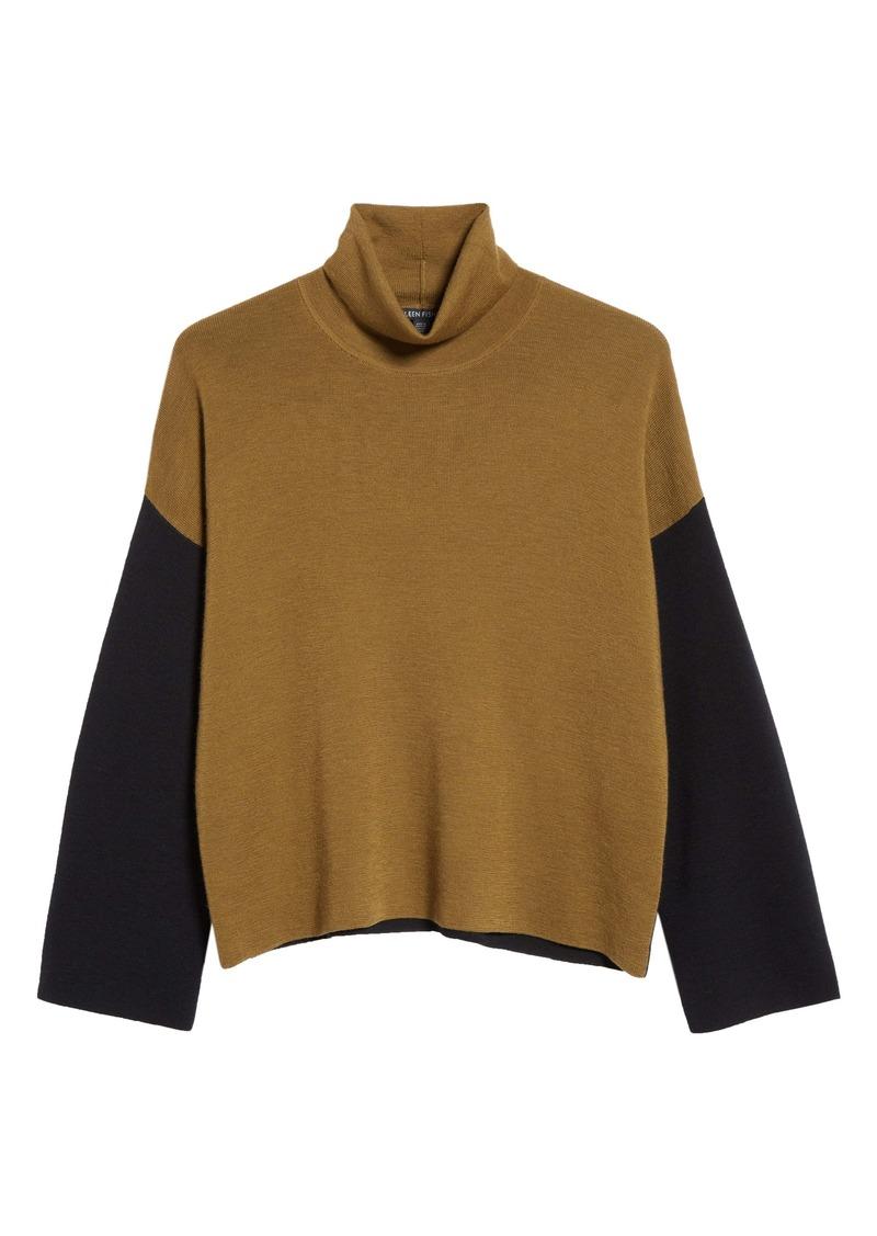 Eileen Fisher Turtleneck Merino Wool Sweater