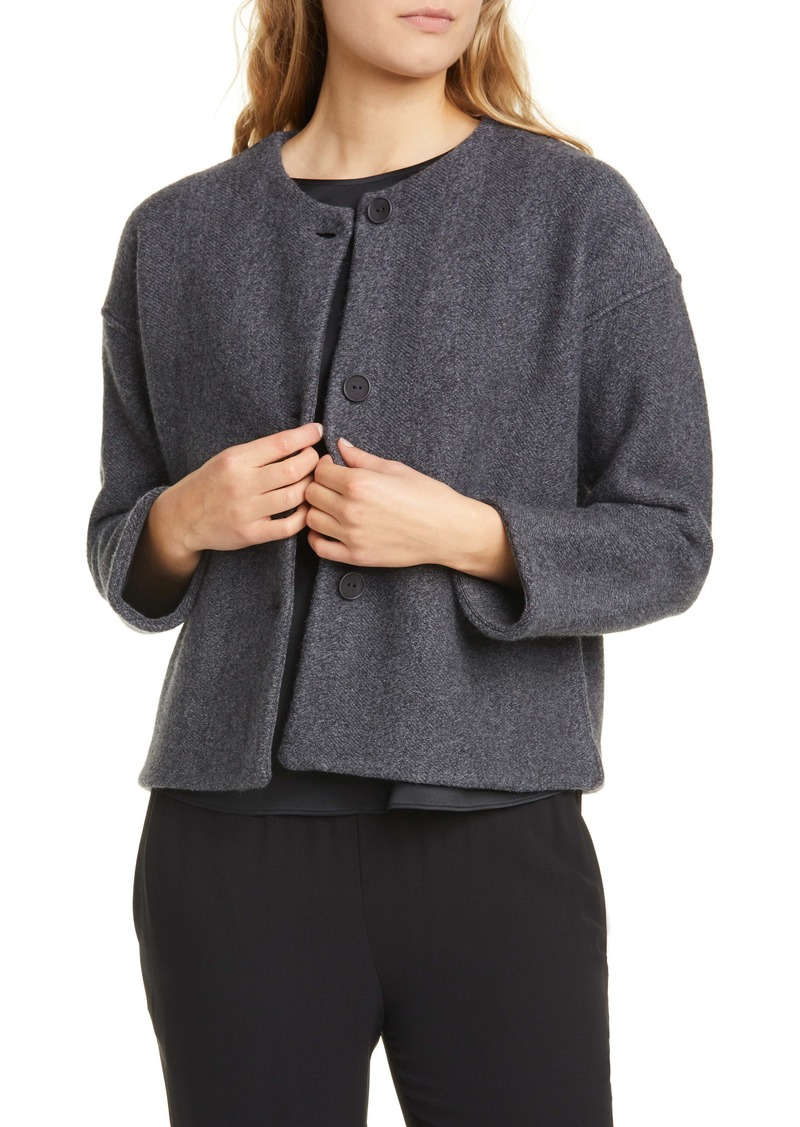 Eileen Fisher Tweed Wool Jacket