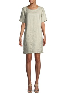 Eileen Fisher Twinkle Organic Linen Shift Dress