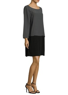 Eileen Fisher Two-Tone Shift Dress