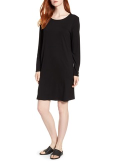 Eileen Fisher V-Back Stretch Tencel® Shift Dress
