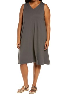 Eileen Fisher V-Neck A-Line Dress (Plus Size)