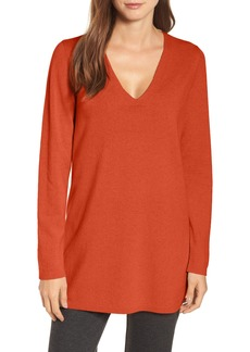 Eileen Fisher V-Neck Cashmere & Wool Tunic (Regular & Petite)