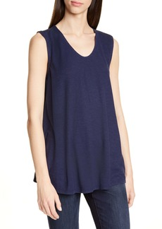 Eileen Fisher V-Neck Hemp & Organic Cotton Shell