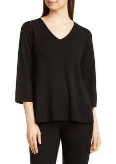 Eileen Fisher V-Neck Merino Wool Top (Regular & Petite)