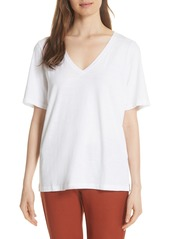 Eileen Fisher V-Neck Organic Cotton Tee