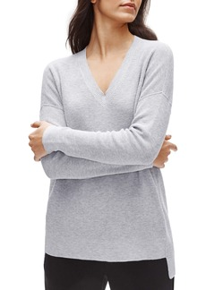 Eileen Fisher V-Neck Organic Cotton Tunic Sweater