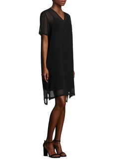 Eileen Fisher Short Sleeve Silk Dress