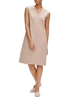 Eileen Fisher V-Neck Sleeveless A-Line Dress