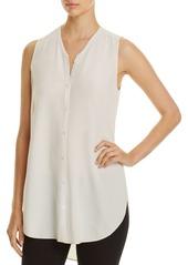 Eileen Fisher V-Neck Sleeveless Silk Blouse
