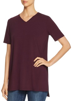 Eileen Fisher V-Neck Tunic Tee