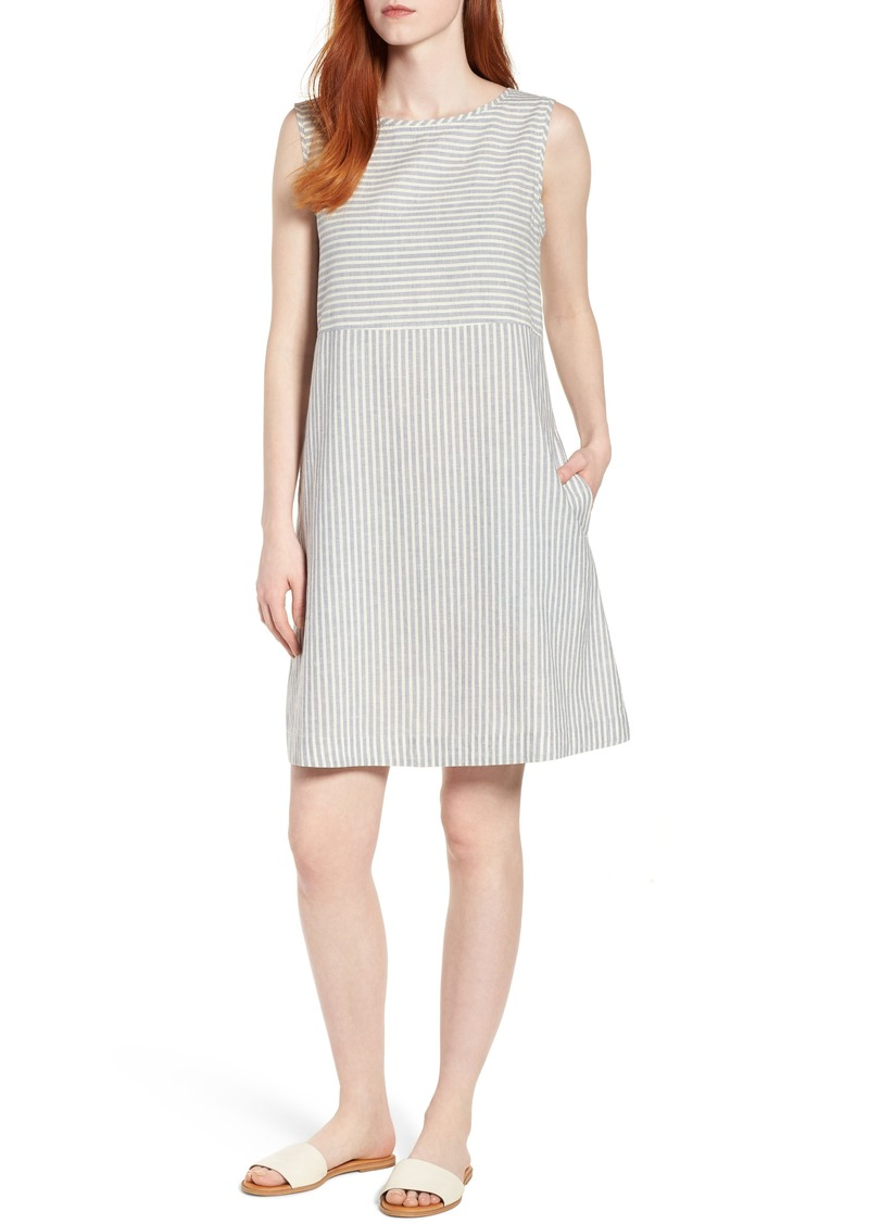 2dfc123f4f3 Eileen Fisher Varied Stripe Hemp   Organic Cotton Shift Dress (Regular    Petite)