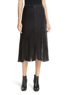 Eileen Fisher Velvet A-Line Skirt (Regular & Petite)