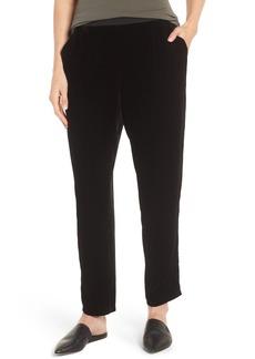 Eileen Fisher Velvet Ankle Pants (Regular & Petite)