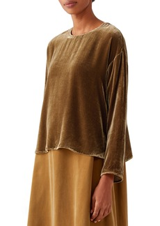 Eileen Fisher Velvet Box Top