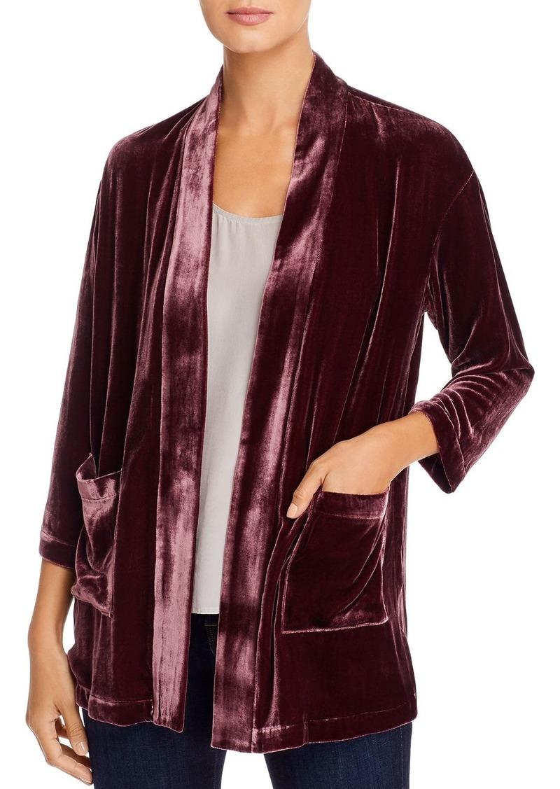 Eileen Fisher Velvet Open Jacket