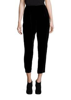 Eileen Fisher Velvet Slouchy Ankle Pants